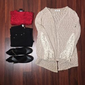 Cato Cardigan with crochet